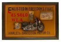 Quadro Madeira Harley Davidson Fotos