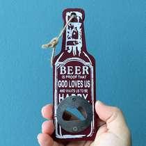 Abridor de Garrafas Beer - Cor Vinho - 5x15 cm