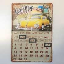 Calendário Universal em Metal - Car Trip