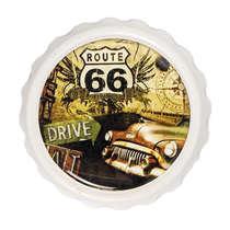 Abridor de garrafa com imã - Route 66 - Branco