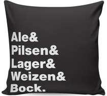 Almofada Ale Pilsen Lager Weizen Bock- 40x40cm - Almofada + Capa
