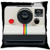 Almofada Câmera Retrô - 45x45cm - Almofada + Capa