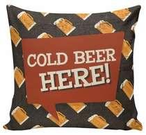 Almofada Cold Beer Here - 40x40cm - Almofada + Capa