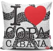 Almofada Copacabana - 40x40cm -  Almofada + Capa
