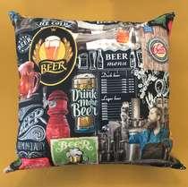 Almofada Drink Beer Linha CDB - Capa + Almofada 40x40 cm