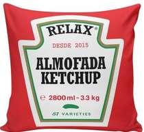 Almofada Ketchup - 40x40cm -  Almofada + Capa