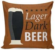 Almofada Lager Dark Beer - 40x40cm - Almofada + Capa