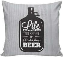 Almofada Life is Beer- 40x40cm - Almofada + Capa