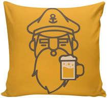 Almofada Marinheiro e Cerveja- 40x40cm - Almofada + Capa