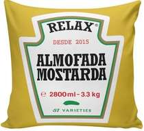 Almofada Mostarda - 40x40cm -  Almofada + Capa