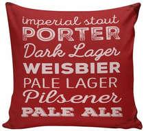 Almofada Porter Pilsener Dark Lager - 40x40cm - Almofada + Capa