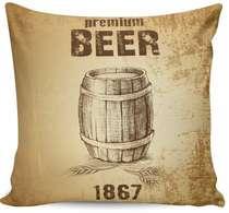 Almofada Premium Beer 1867 - 40x40cm -  Almofada + Capa