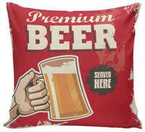 Almofada Premium Beer Red - 40x40cm - Almofada + Capa