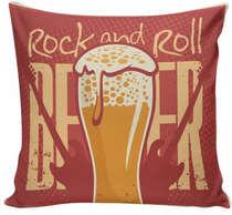 Almofada Rock and Roll Beer - 40x40cm - Almofada + Capa