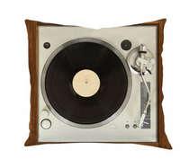 Almofada Toca Discos - 45x45cm - Almofada + Capa