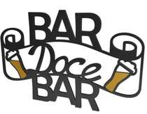 Aplique Parede Laqueado em MDF - Bar Doce Bar