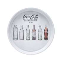 Bandeja Metal Round Coca-Cola Evolution of Bottles