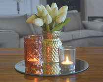 Conjunto Castiçais e Bandeja 4 peças - Pineapple