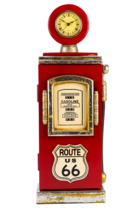 Bomba Gasolina Vintage c/ relógio - 46 cm (A) Route 66