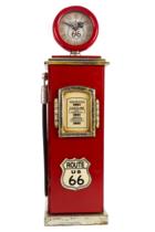 Bomba Gasolina Vintage c/ relógio - 62 cm (A) Route 66 com