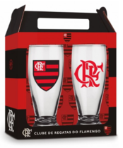 Conjunto 2 Copos Cerveja - Flamengo Oficial - Munich 200 ml