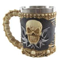 Caneca Cerveja Resina/Inox Black - 450 ml