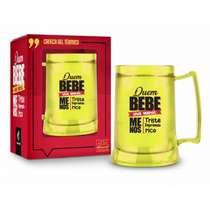 Caneca Cerveja Gel Congelante - 300ml - Quem bebe vive menos