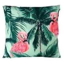 Capa Almofada Leaves & Flamingos - 45x45cm