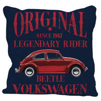 Capa Almofada Fusca - Volkswagen Coleção Oficial -  45x45cm