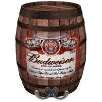 Cabideiro Barril em MDF - Budweiser
