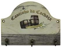 Cabideiro em MDF Cantinho da Cachaça - 18 x 24 cm
