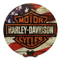 Cabideiro em MDF Harley Davidson - 28 cm de diâmetro