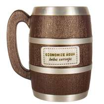 Caneca Viking Edição Colecionador - Coisas de Boteco - Economize água beba cerveja - 600 ml