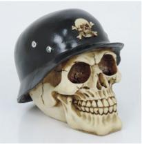 Caveira de Resina - Cofre Militar