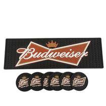 Combo Especial Base para bebidas + 6 porta copos Budweiser