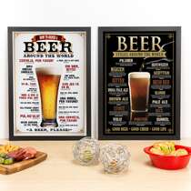 Combo Especial - Quadros Beer + Styles Around The World  - 45 x 33 cm