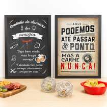 Combo Especial - Quadros Cantinho dos Amigos + Passar do Ponto - 45 x 33 cm