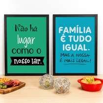 Combo Especial - Quadros Nosso Lar e Família é Tudo Igual - 45 x 33 cm
