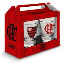 Conjunto 2 Copinhos p/ dose - Flamengo Oficial - 60 ml