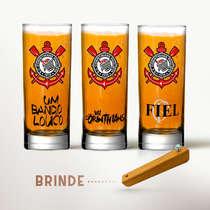 Conjunto Copos Cerveja (Brinde Abridor) - Corinthians