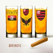 Conjunto Copos Cerveja (Brinde Abridor) - Flamengo