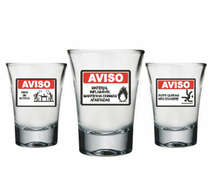 Conjunto com 3 copos aperitivo 60 ml - Avisos de Boteco