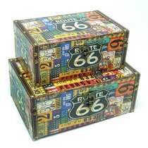Jogo de Baús Retrô 2 Peças - Route 66