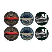Conjunto de Porta Copos - Opalas Coloridos - Chevrolet - 6 peças