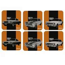 Conjunto de Porta Copos - Opalas - Chevrolet - 6 peças