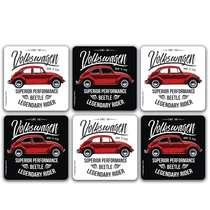 Conjunto de Porta Copos - Fuscas - Volkswagen - 6 peças