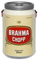 Cooler para 24 latinhas - Brahma - Rótulo 1980