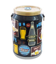 Cooler para 24 latinhas - Cold Beer Retrô Preto
