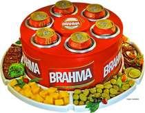 Cooler para 6 latinhas com petisqueira - Brahma