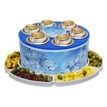Cooler para 6 latinhas com petisqueira - ICE